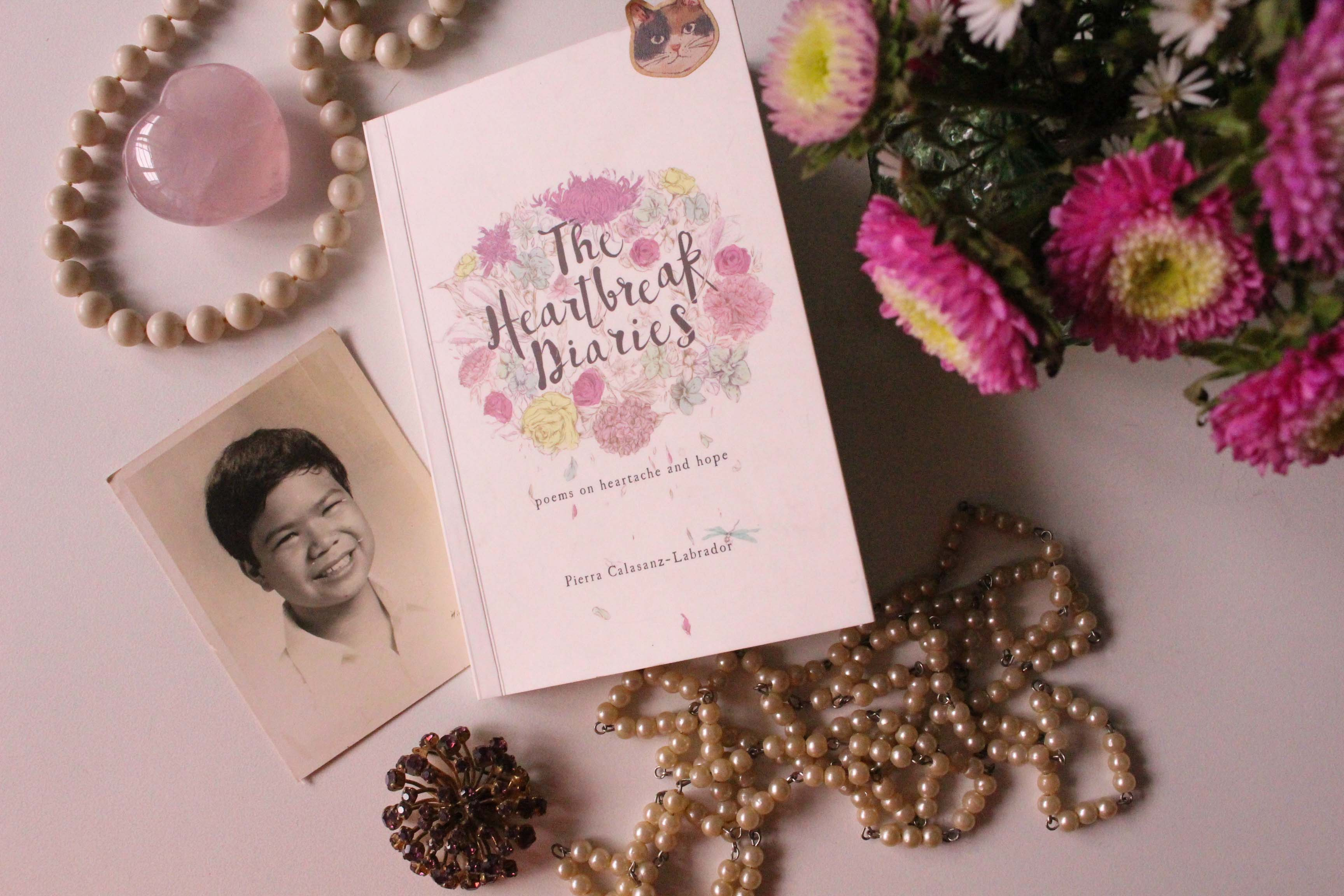 Her first self-published book, The Heartbreak Diaries, are poems that delve into